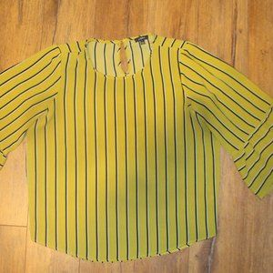 Final Price! AUW Striped Flare Sleeve Blouse Sz. L